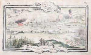 KAMIENNA GÓRA (woj. dolnośląskie, pow. kamiennogórski). Widok miasta w czasie bitwy 23 VI 1760 r., p ...