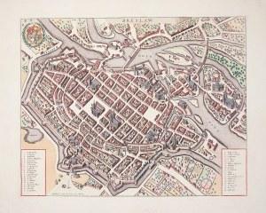 WROCŁAW. Perspektywiczny plan miasta; wyd. J. Covens & C. Mortier, Amsterdam, ok. 1750; na podstawie ...
