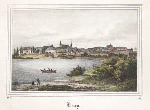 BRZEG. Panorama miasta; wym.: 186x121 mm; Brieg; ...