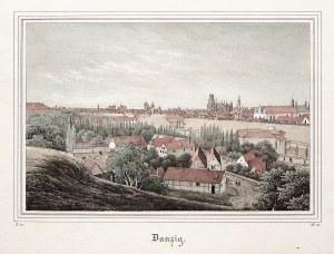 GDAŃSK. Panorama miasta; wym.: 177x117 mm; Danzig; ...