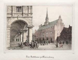 MALBORK. Ratusz; wym.: 186x128 mm; Das Rathhaus zu Marienburg; ...