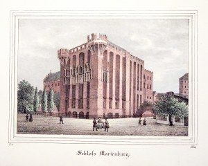 MALBORK. Zamek Średni; wym.: 173x118 mm; Schloss Marienburg; ...