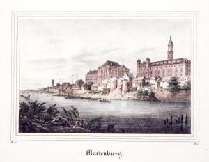 MALBORK. Zamek widziany od str. Nogatu; wym.: 179x120 mm; Marienburg; ...
