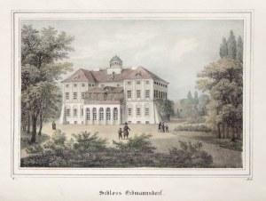 MYSŁAKOWICE. Pałac; wym.: 186x123 mm; Schloss Erdmannsdorf; ...