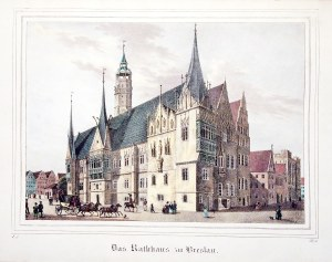 WROCŁAW. Ratusz; lekkie zabrudzenia; wym.: 197x141 mm; Das Rathhaus zu Breslau; ...
