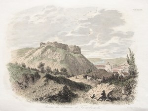 TREMBOWLA. Ruiny zamku; ryt. Auguste François Alés, druk. Leclere; minimalny ubytek papieru; wym. ar ...