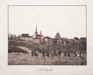 KALISZ. Panorama miasta; pochodzi z: Christian Friedrich Emanuel Fischer, Karl Friedrich Stuckart, Z ...