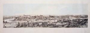 KRAKÓW. Panorama miasta od strony Podgórza; lit. Jędrzej Brydak według fot. Walerego Rzewuskiego, Li ...