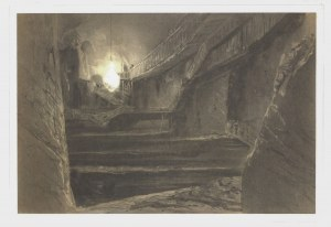 WIELICZKA. Wnętrze kopalni soli; rys. Lauvergne, lit. Sabatier, druk. Lemercier, pochodzi z: Gaimard ...