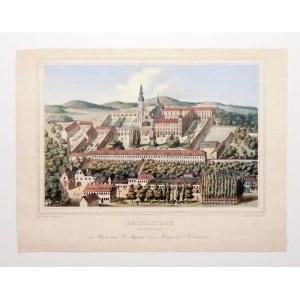HENRYKÓW. Widok z lotu ptaka na były klasztor cystersów, wówczas w rękach spokrewnionego z Hohenzoll ...