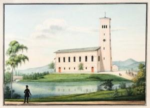 MYSŁAKOWICE. Kościół Najświętszego Serca Pana Jezusa; anonim, 1838; akwarela i tusz, st. bdb., minim ...