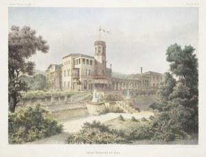 WOLANY k. Kłodzka. Widok na pałac feldmarszałka Georga Oliviera hrabiego von Wallis; Lith. Anst. v. ...
