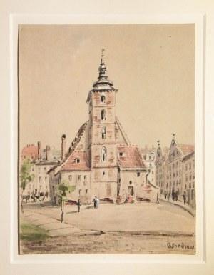WROCŁAW. Kościół św. Krzysztofa; Bothe Rochow, 1890; akwarela, st. bdb., passe-partout; wym.: 125x16 ...