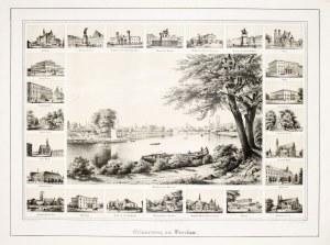 WROCŁAW. 25 widoków miasta na wspólnym arkuszu; rys. z natury Nay, lit. Friedrich Julius Tempeltei, ...