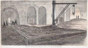 CHORZÓW. Zestaw 3 widoków, ok. 1880: 1) panorama miasta – Ansicht des k. Hüttenwerks Königshütte in ...