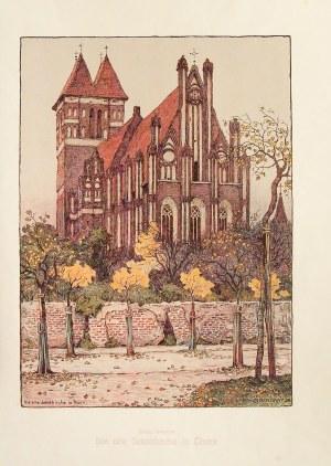 TORUŃ. Kościół św. Jakuba; lit. Arthur Bendrat, 1906, wyd. B.G. Teubner, Lipsk, Kunstanstalt Wilhelm ...