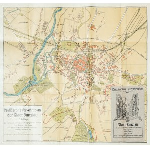 BOLESŁAWIEC. Plan miasta, składany, w broszurowej okładce, z dołączonym wykazem ulic; wyd. Paul Baro ...