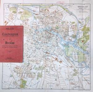 WROCŁAW. Plan miasta, składany; podziałka 1:20 000; oprac. Georg Sicker, kartogr. lithogr. Anst. Lie ...
