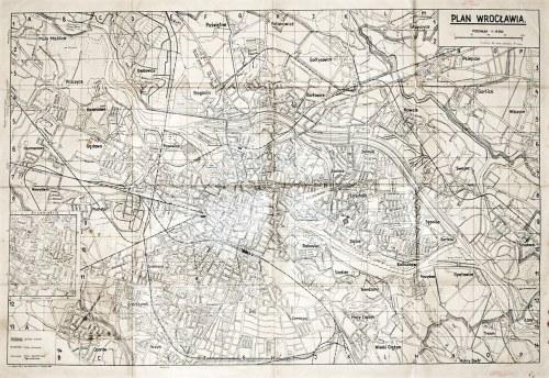 WROCŁAW. Plan miasta; podziałka 1:18 000; wyd. dr Jerzy Jabłoński, P.Z. Graf. Nr 2 we Wrocław ...