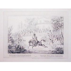 PONIATOWSKI, JÓZEF. Śmierć Józefa Poniatowskiego; wyd. Artaria, Wiedeń, 1813; akwf. cz.-b., st. bdb. ...