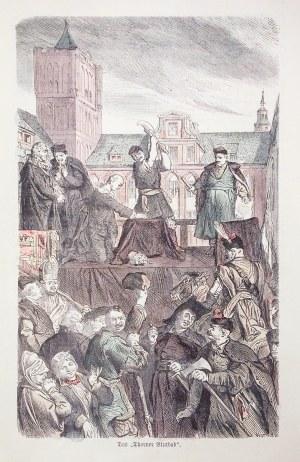 TORUŃ. Tumult toruński – scena przedstawiająca obcięcie dłoni skazanego na śmierć luteranina; rys. W ...