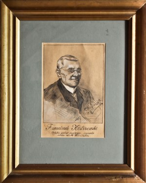 KOSTRZEWSKI, FRANCISZEK (1826-1911), malarz, ilustrator, rysownik satyryczny i karykaturzysta; portr ...