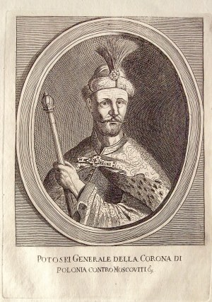 POTOCKI, STANISŁAW REWERA (ok. 1589-1667), senator, hetman polny koronny; portret w owalu, pochodzi ...