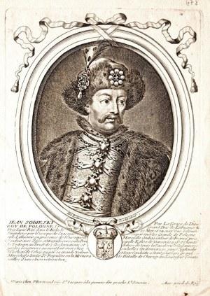 WILANÓW – JAN III SOBIESKI (1629-1696), król Polski i wielki książę litewski w latach 1674-1696; ryt ...