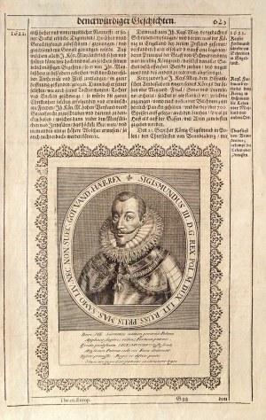 ZYGMUNT III WAZA (1566-1632), król Polski (1587-1632) i Szwecji (1592-1599); popiersie w owalnej ram ...