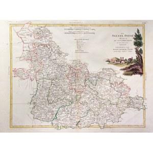 DOLNY ŚLĄSK. Mapa Dolnego Śląska; pochodzi z: Atlante novissimo illustrato..., wyd. Antonio Zatta, W ...
