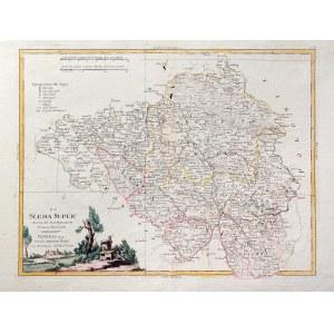 GÓRNY ŚLĄSK. Mapa Górnego Śląska; pochodzi z: Atlante novissimo illustrato..., wyd. Antonio Zatta, W ...