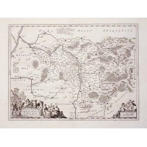 GRODKÓW. Mapa Księstwa Grodkowskie i Biskupstwa Nyskiego; oprac. Jonas Scultetus, pochodzi z hiszpań ...