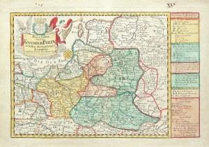 KRÓLESTWO POLSKIE. Mapa Królestwa Polskiego; pochodzi z: Atlas Selectus..., ryt. i wyd. Johann Georg ...