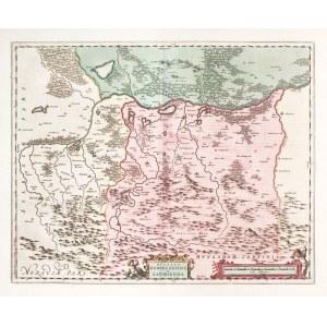 OŚWIĘCIM, ZATOR. Mapa Księstwa Oświęcimsko-Zatorskiego; powiększony wariant mapy Stanisława Porębski ...