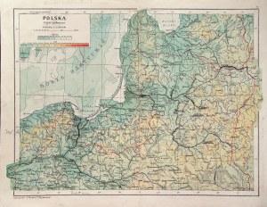 POLSKA. Mapa Polski w dwóch częściach; oprac. przez Eugeniusza Romera i Teofila Szumańskiego, okres ...