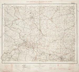POLSKA, KRAKÓW. Mapa administracyjna Polski – okolice Krakowa, arkusz 29/30; oprac. inż. Romuald Ceb ...