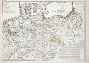 POLSKA, KRÓLESTWO PRUS. Mapa Królestwa Prus i ziem polskich; oprac. Georges Louis Le Rouge, Paryż 17 ...