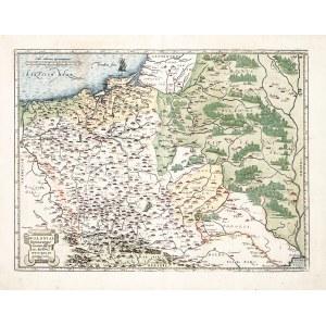 POLSKA, LITWA. Mapa Polski i Litwy; oprac. Wacław Grodecki, pochodzi z: Theatrum Orbis Terrarum, wyd ...