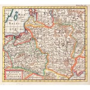 POLSKA, LITWA. Mapa Rzeczpospolitej; oprac. Nicolas Sanson D'Abbeville, mapa zamieszczana w: Introdu ...