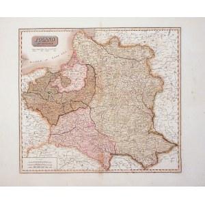 POLSKA, LITWA. Mapa ziem polskich po rozbiorach; ryt. J. & G. Menzies, pochodzi z: New general atlas ...