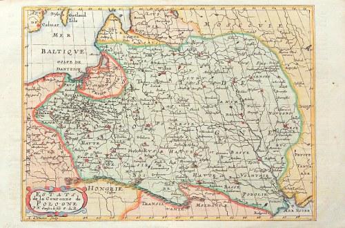 POLSKA, LITWA, SMOLEŃSK. Mapa Rzeczpospolitej u szczytu swej potęgi terytorialnej, a więc przed roze ...