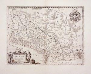 ŚLĄSK. Mapa generalna Śląska; autorstwa Martina Helwiga (mapa jest przeróbką pierwszej mapy Śląska H ...