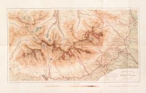 TATRY. Mapa Tatr Wysokich; oprac. dr August Otto, lit. i druk. Theiner & Meinicke, wyd. Wilhelm Gott ...