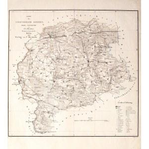 TORZYM. Mapa powiatu torzymskiego; oprac. F.A. Witzleben, ryt. H. Delius, rys. Nowack, wyd. C. Heyma ...