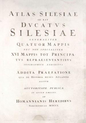 ŚLĄSK. ATLAS SILESIAE / ID EST / DVCATVS / SILESIAE / GENERALITER / QUATUOR MAPPIS / NEC NON SPECIAL ...