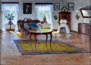 Bronisława Rychter - Janowska (1868-1953), Scena we wnętrzu, 1938