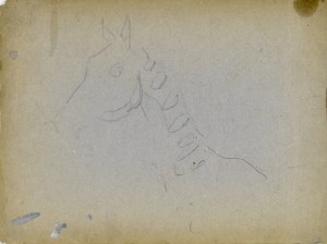 Wojciech Kossak (1856 - 1942), Szkic głowy konia