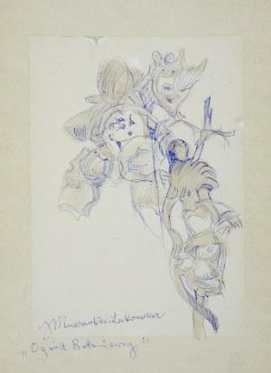 Janina Muszanka - Łakomska (1920-1982), Ogród Botaniczny - Kwiaty, 1968