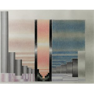 Zofia ARTYMOWSKA (ur. 1923), Poliformy-Trzy momenty, 1986
