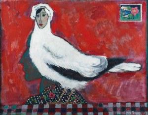 Stanisław WÓJTOWICZ (1920-1991), Poświęcam Tobie i przesyłam wraz z całusami moja Gołąbeczko, 1975